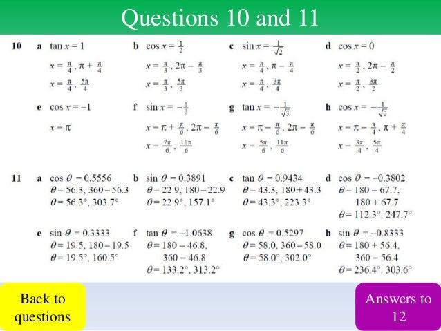 Core 3 trigonometry revision lesson