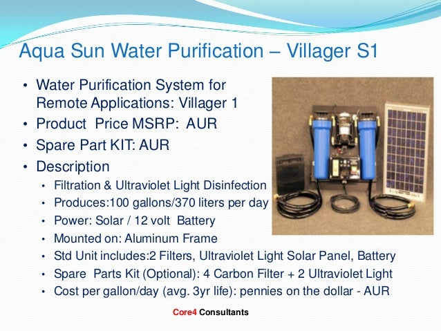 Core4 consultants presentation on solar water purification systems to…
