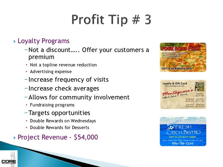    The Guest Experience      −Server Training      −Voice of the Customer      −Lifetime Value of the Customer           ...