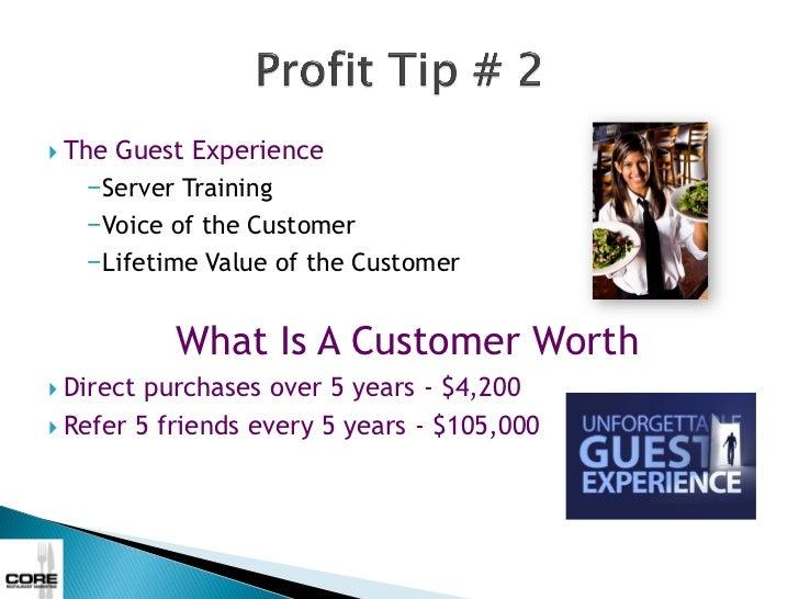 •   What is your revenue                   CORE Revenue Analysis    potential?                      Menu Impacts          ...