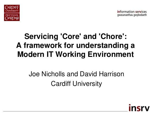 Servicing 'Core' and 'Chore': A framework for understanding a Modern IT Working Environment Joe Nicholls and David Harriso...