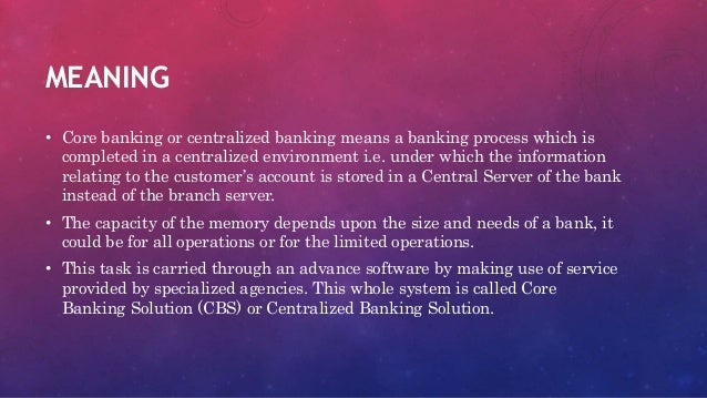 Core banking chapter 4