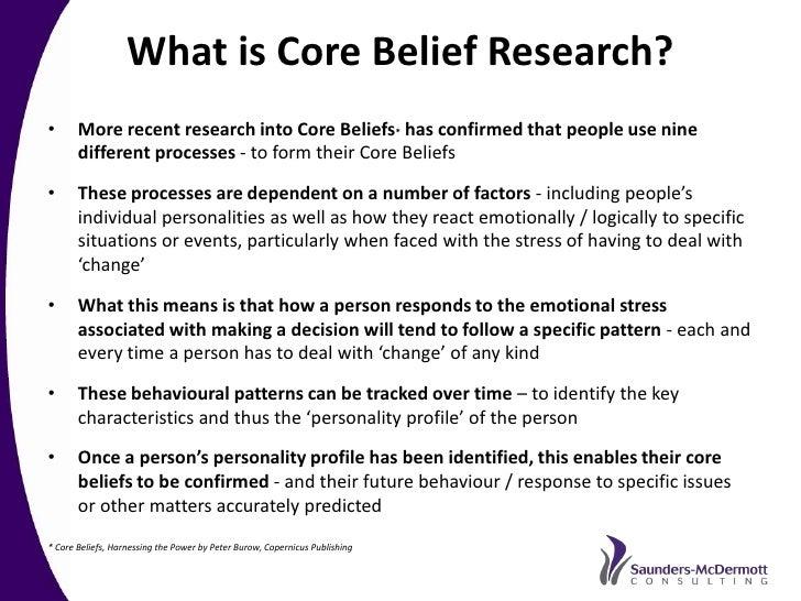 how to change core beliefs