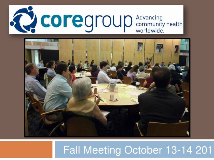 Fall Meeting October 13-14 2011<br />