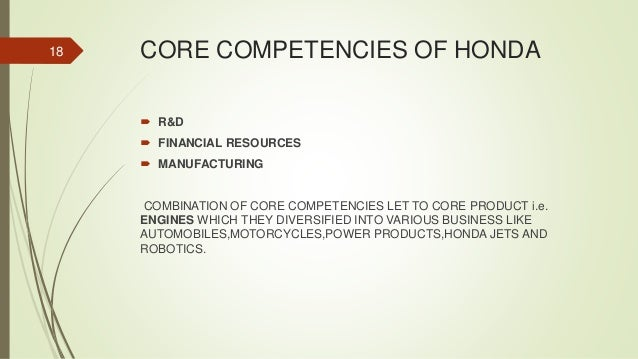The Concept Of Core Competency