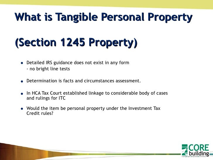 what is sec 1245 property