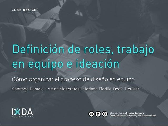 Cómo organizar el proceso de diseño en equipo Santiago Bustelo, Lorena Maceratesi, Mariana Fiorillo, Rocío Doukler Definic...
