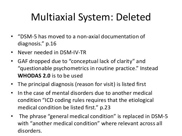 multiaxial diagnosis Diagnosis, case conceptualization, and treatment planning i  case conceptualization, and treatment planning fit into the  taking a look at a multiaxial diagnosis.