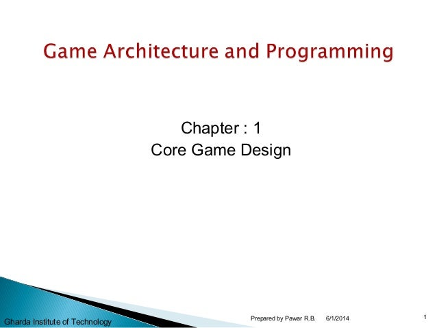 Chapter : 1 Core Game Design 6/1/2014 1Prepared by Pawar R.B. Gharda Institute of Technology