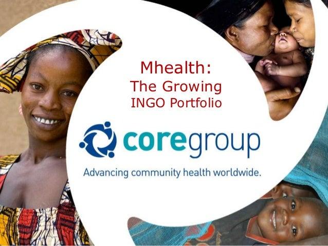 Mhealth:The GrowingINGO Portfolio