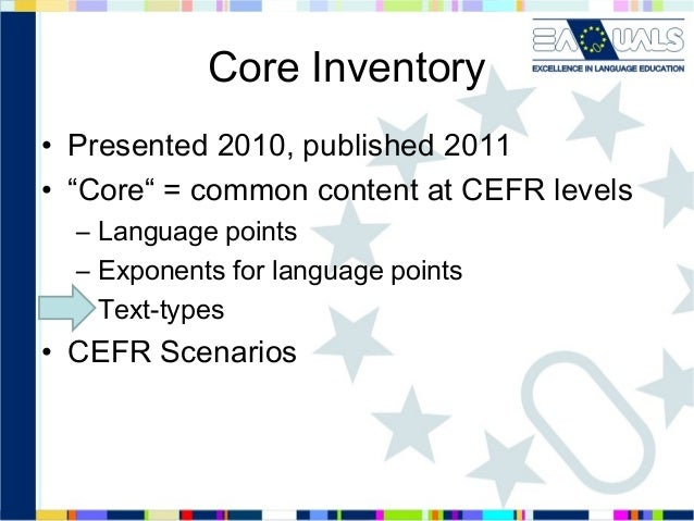 Core inventory for french   nov13
