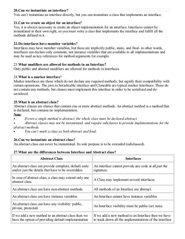 core java interview questions pdf