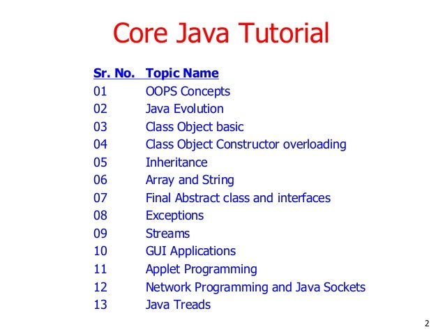 Java Programming Language Tutorial Pdf