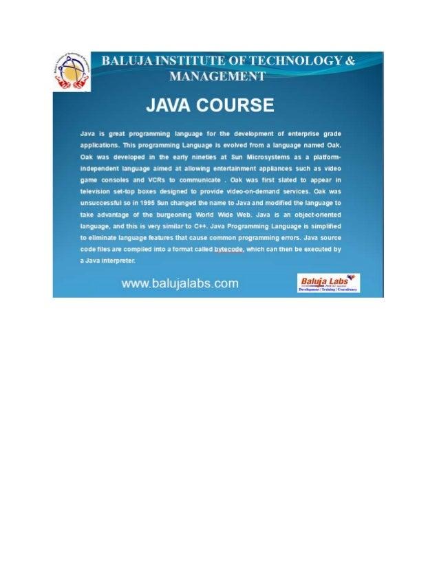 Core java course