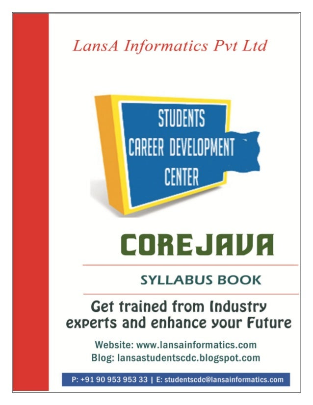 Core java course syllabus