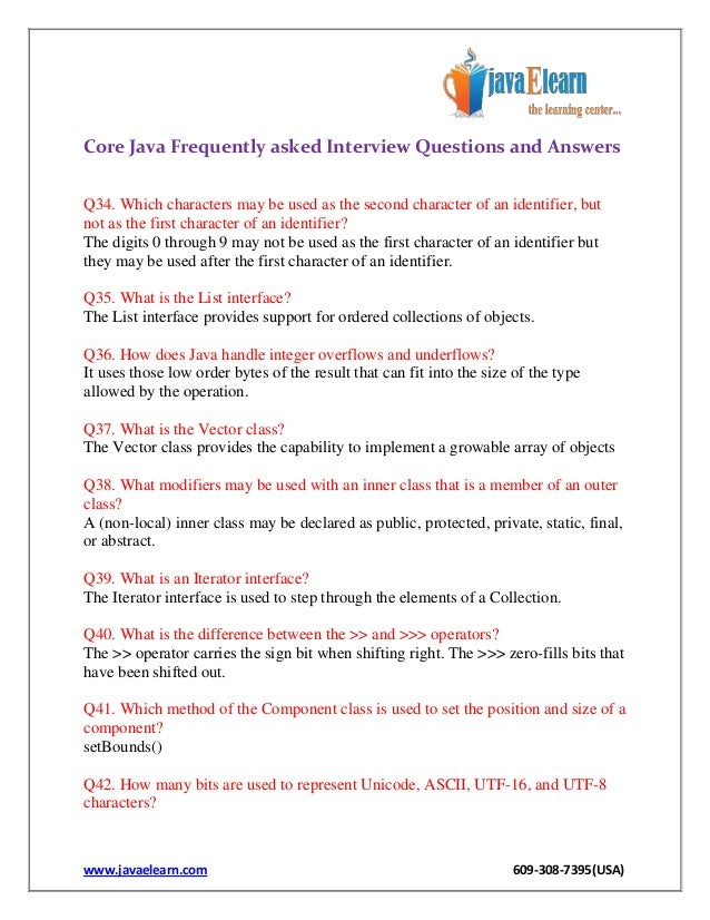 java interview questions and answers pdf