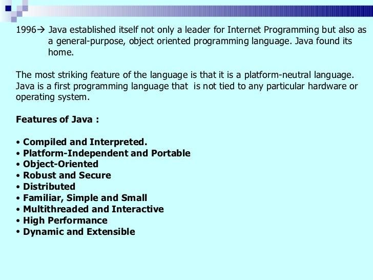 Java tutorial ppt.