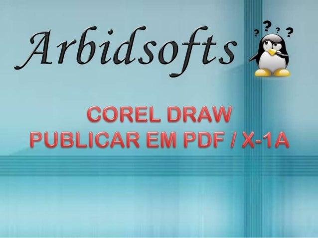 CorelDRAW - Publicar em PDF/X-1a