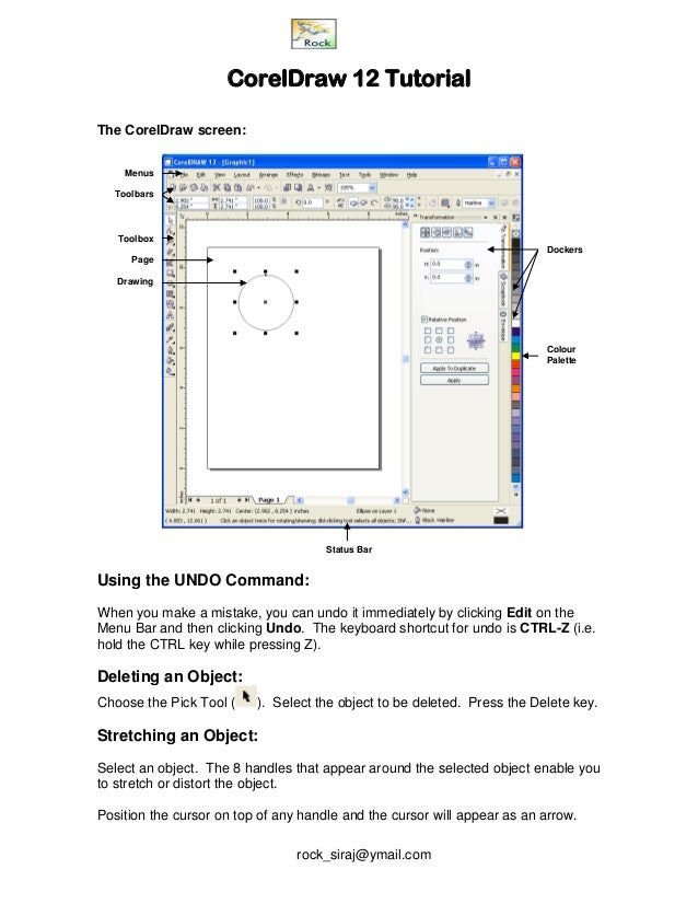 Corel Draw 12 Notes