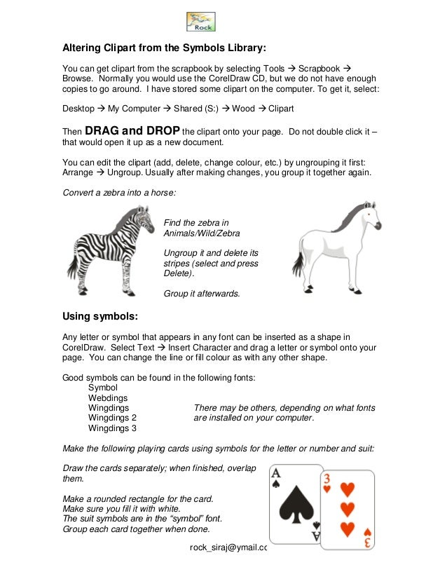 Corel Draw 12 Notes