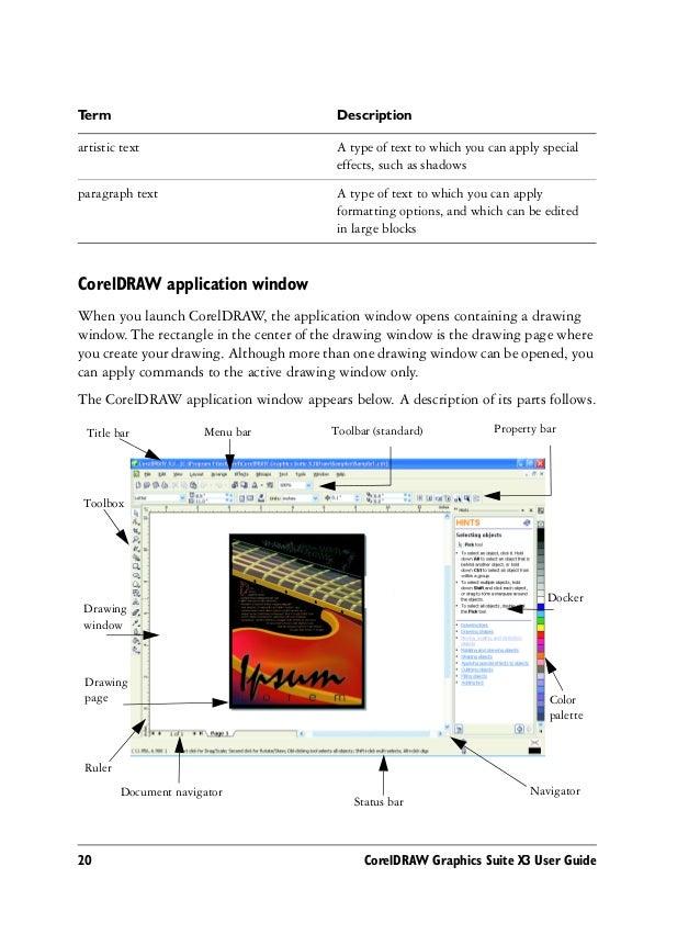 corel draw graphics suite x3 notes rh slideshare net corel draw user guide coreldraw instruction manual