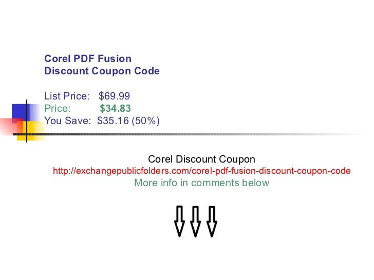 what is the cost of Corel PDF Fusion for students