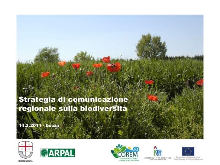 Strategia di comunicazione regionale sulla biodiversità 14.3.2011 - bozza