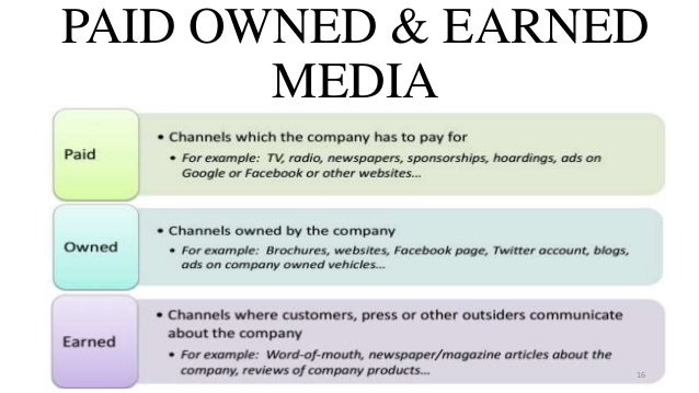 PAID OWNED & EARNED MEDIA 16