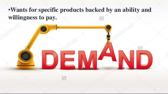 •Wants for specific products backed by an ability and willingness to pay. 5