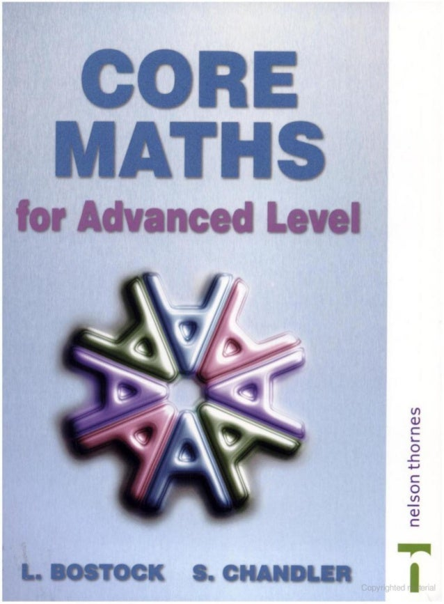CORE MATHS BOSTOCK AND CHANDLER PDF