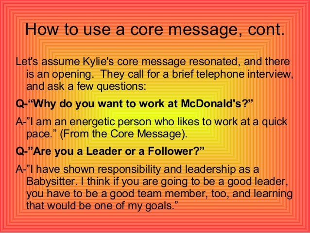 How long does it take to get a call from McDonald's about my job application?