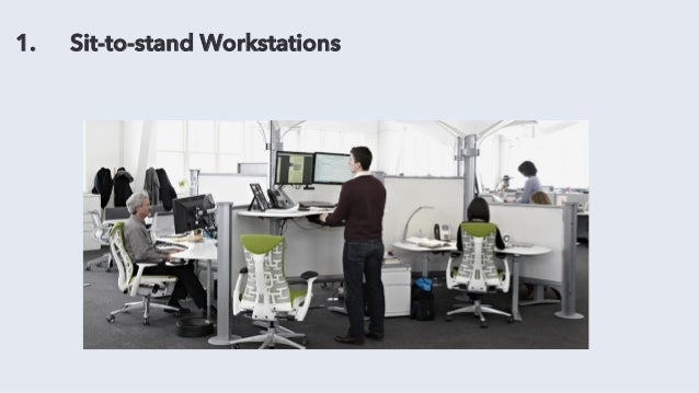 1. Sit-to-stand Workstations