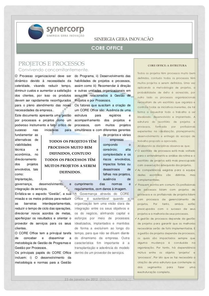 SINERGIA GERA INOVAÇÃO                                                                    CORE OFFICE     PROJETOS E PROCE...