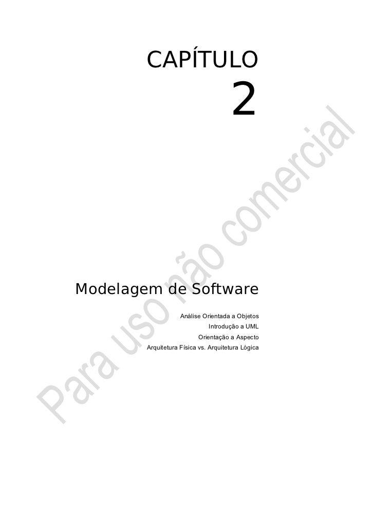 CAPÍTULO                                      2Modelagem de Software                    Análise Orientada a Objetos       ...