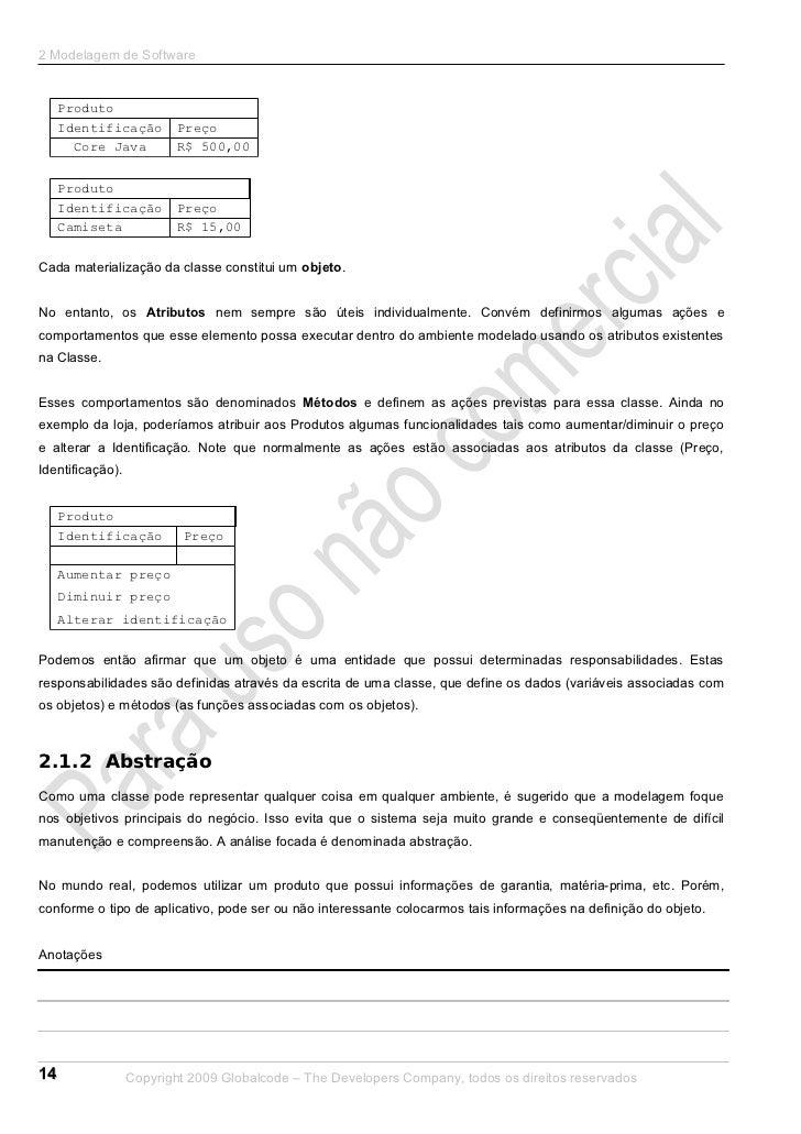 2 Modelagem de Software     Produto     Identificação        Preço       Core Java          R$ 500,00     Produto     Iden...