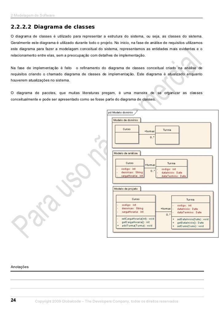 2 Modelagem de Software2.2.2.2 Diagrama de classesO diagrama de classes é utilizado para representar a estrutura do sistem...