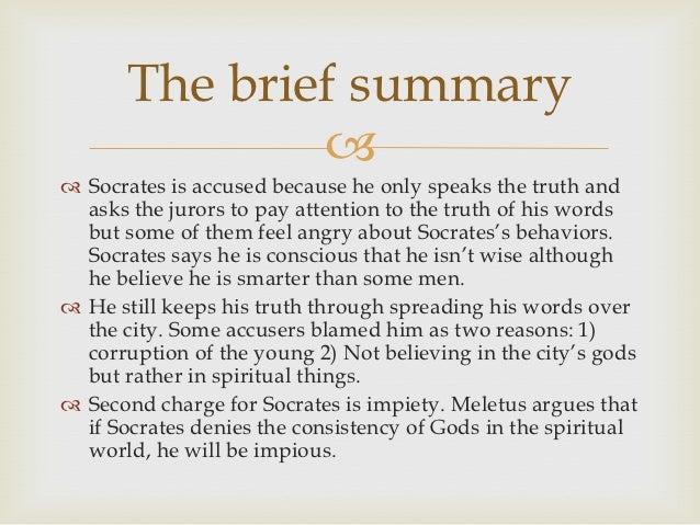 Plato's apology summary