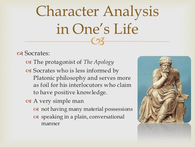 an examination of the apology by socrates Socrates then proceeds to interrogate meletus, the man primarily responsible for bringing socrates before the jury this is the only instance in the apology of the elenchus, or cross-examination, which is so central to most platonic dialogues.