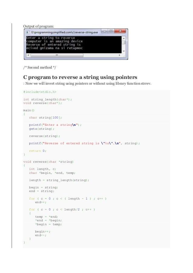 Core programming in c
