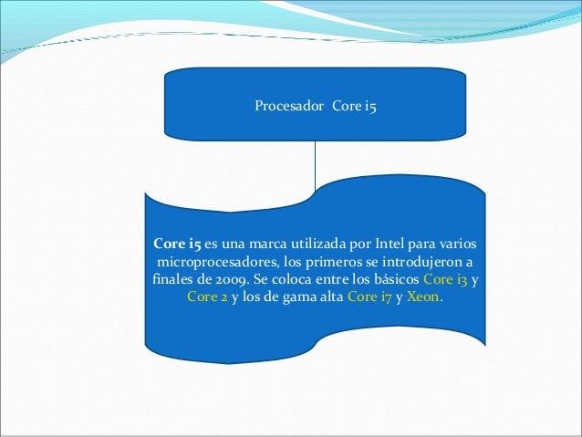 Procesador Core i5 Core i5 es una marca utilizada por Intel para varios microprocesadores, los primeros se introdujeron a ...