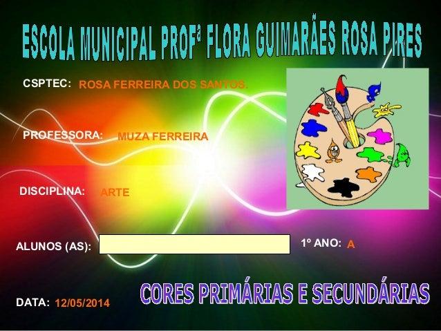 CSPTEC:  PROFESSORA:  DISCIPLINA:  ALUNOS (AS): 1º ANO:  DATA:  ROSA FERREIRA DOS SANTOS.  MUZA FERREIRA  ARTE  A  12/05/2...