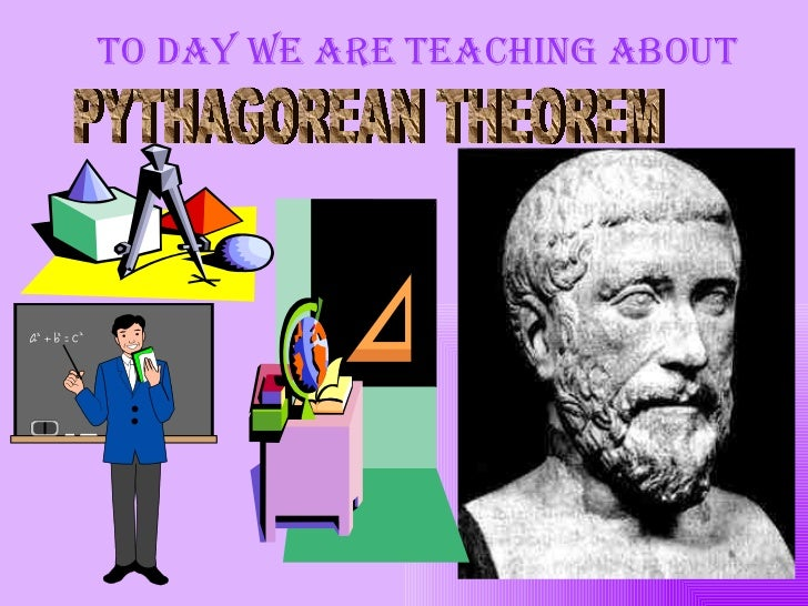 To day we are teaching about PYTHAGOREAN THEOREM
