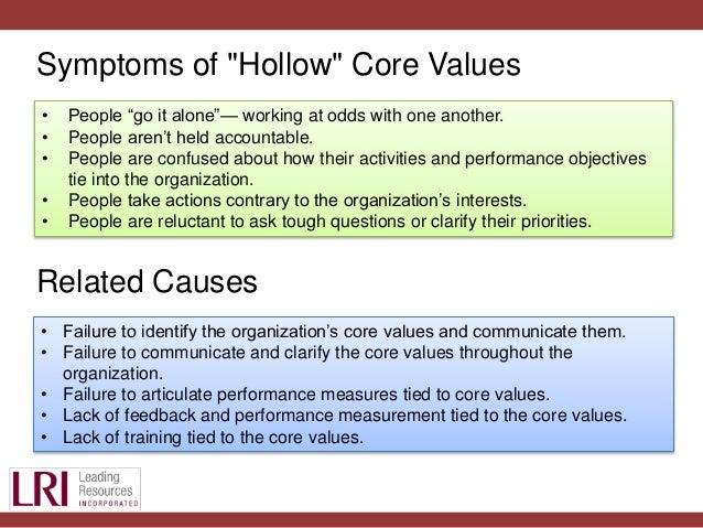 company core values