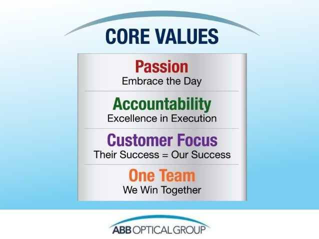 Value Statement Our core values represent what is important to us as an organization. By all aligning to this core set of ...