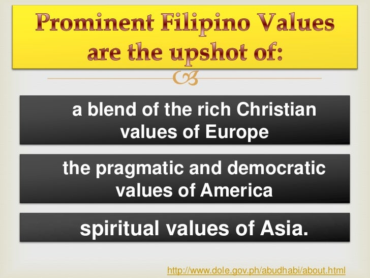 a blend of the rich Christian      values of Europethe pragmatic and democratic      values of America spiritual values o...
