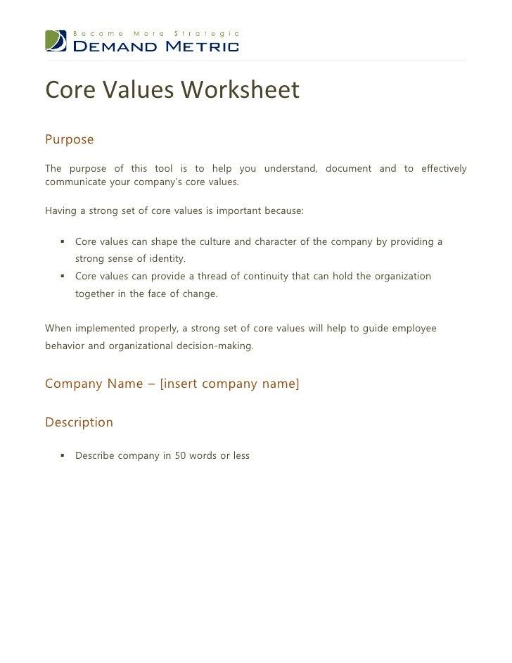 Core Values Worksheet 1 728 ?cb\u003d1354717284