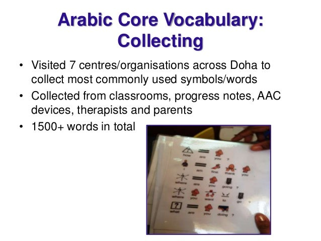 Core vocabularies for Bilingual Language Learning and ...
