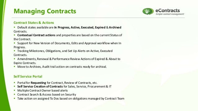 Managing Contracts with SharePoint