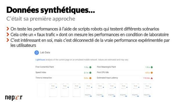 Pourquoi les Core Web Vitals ? Données tournées vers l'expérience utilisateur Bénéficiant des données RUM de CrUX Plus per...