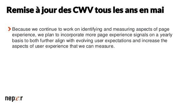 Plus d'infos Nouvelle FAQ sur les Core Web Vitals https://support.google.com/webmasters/thread/86521401?hl=FR Le site sur ...